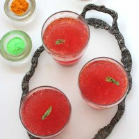 Carrot Beet Probiotic Drink ~ KANJI with carrot and beet ~ Holi Special