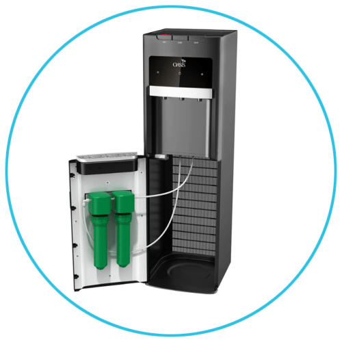 Point of Use Filtration with Bottle-less Cooler