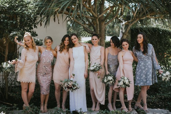 general vibe mismatched bridesmaid dresses