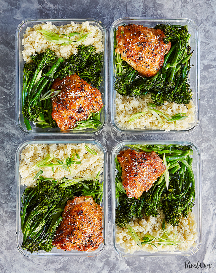 Meal-Prep Honey Sesame Chicken with Broccolini - PureWow