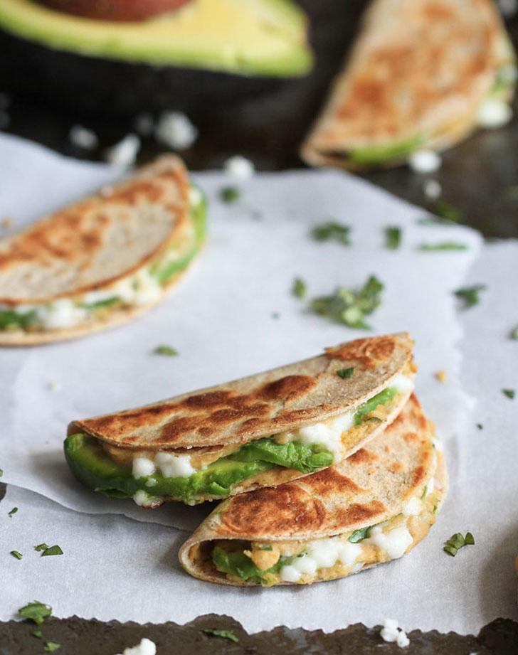 avocado hummus quesadilla