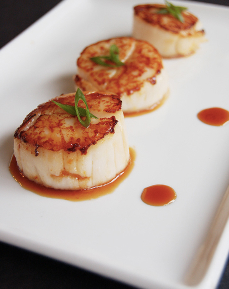 orange soy glazed scallops recipe