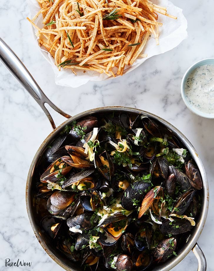 steamed mussels and fries recipe