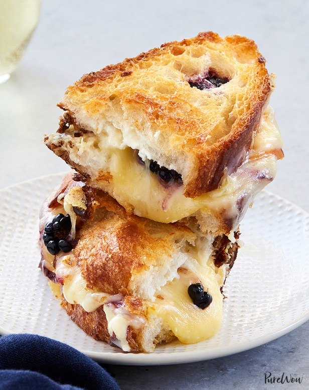 blackberry peach grilled cheese recipe