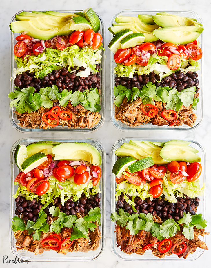 slow cooker meal prep burrito bowls recipe hero