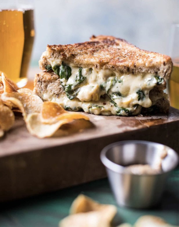 spinach and artcihoke melt