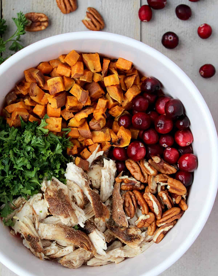 harvest chicken sweet potato bowl recipe