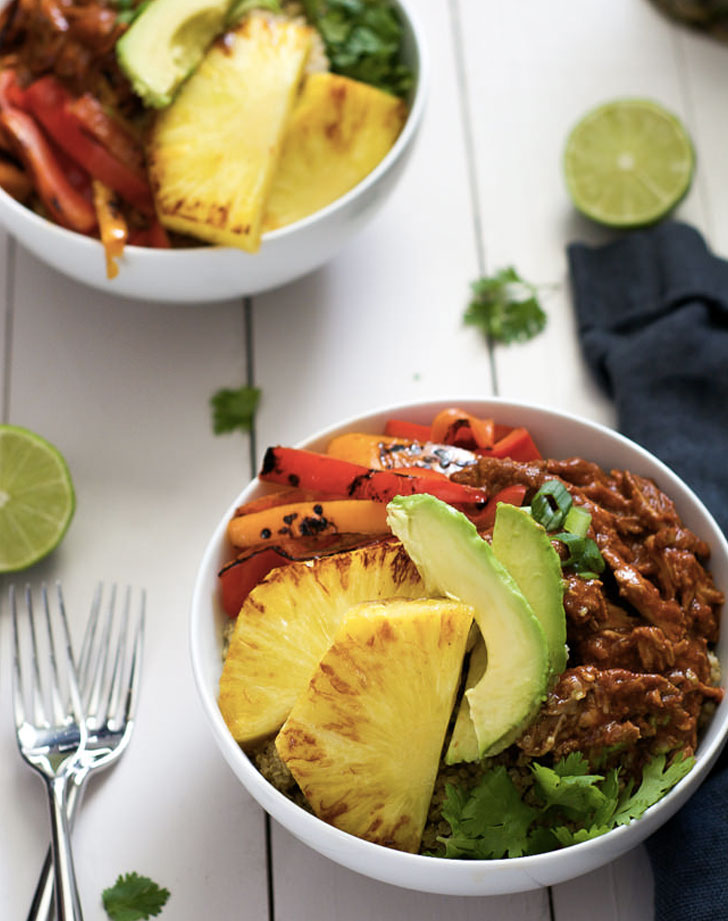 slow cooker pulled pork burrito bowls recipe