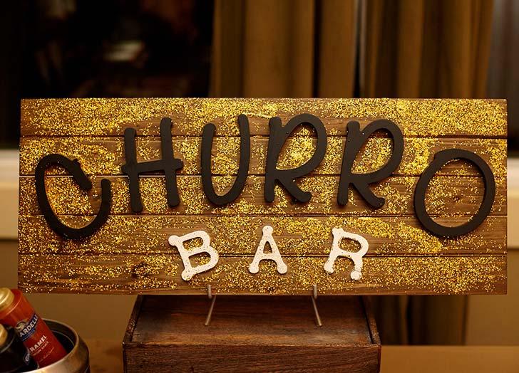 wedding snack churro bar