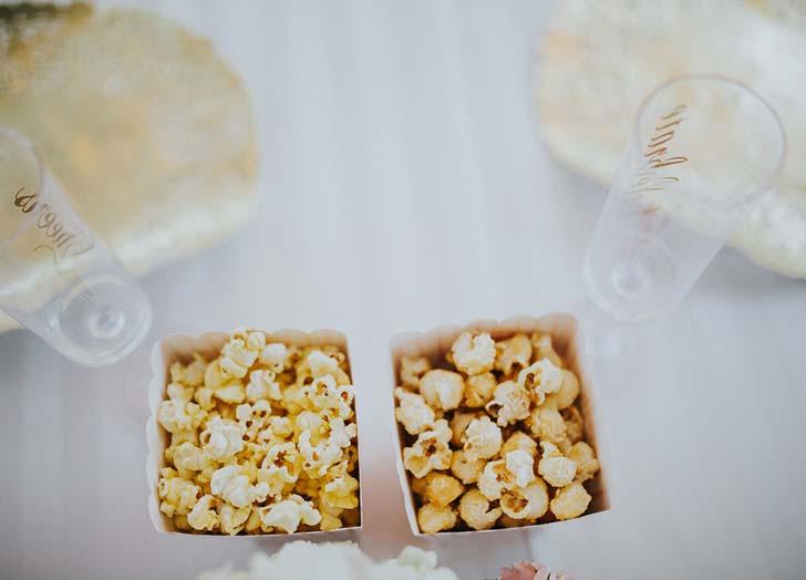 wedding snack popcorn