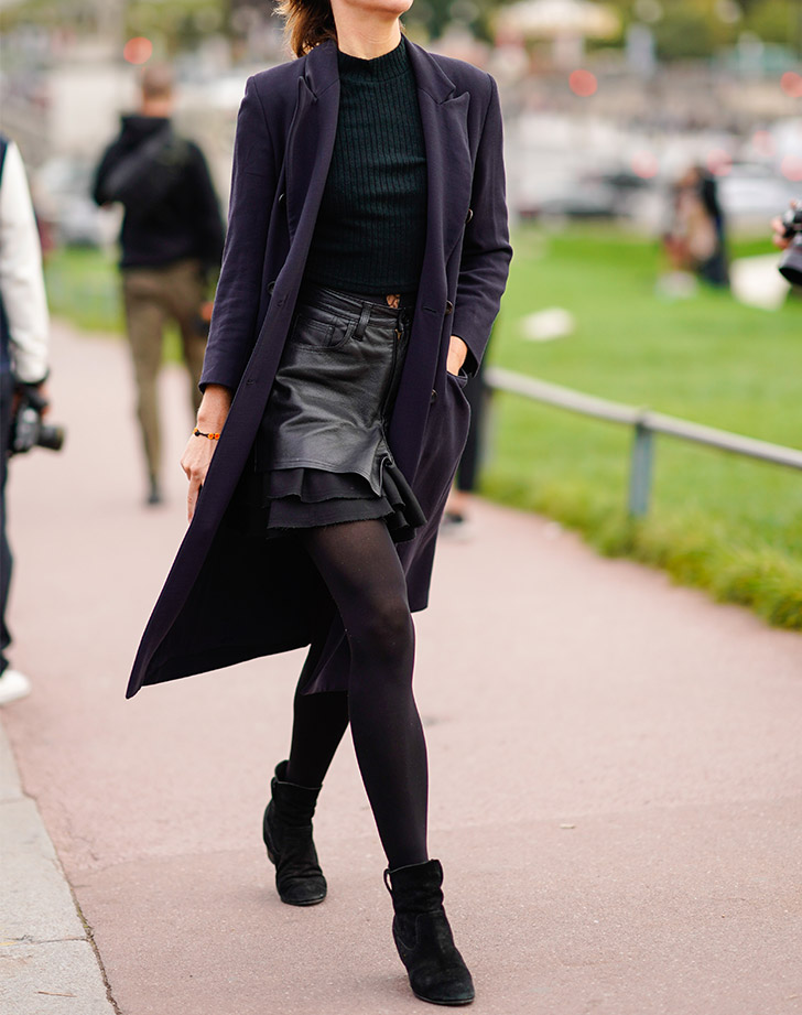 ankle boots black tights