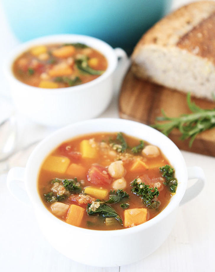 fall vegetable quinoa soup recipe