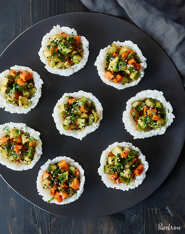 vegetarian sushi cups recipe1