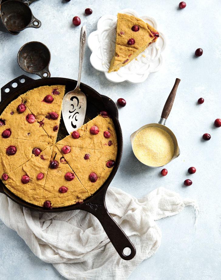 brown butter cranberry pumpkin skillet corn bread recipe