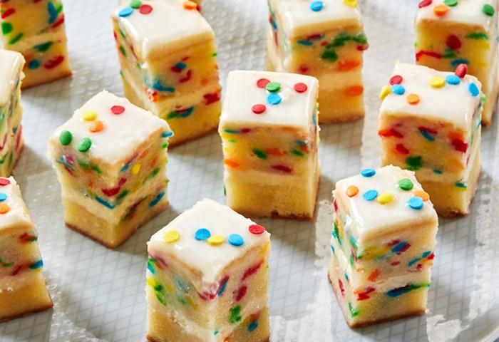 Birthday Cake Petit Fours Recipe Purewow