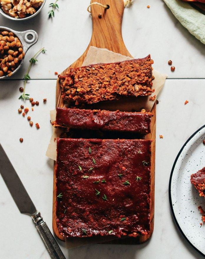 vegan lentil nut meatloaf recipe