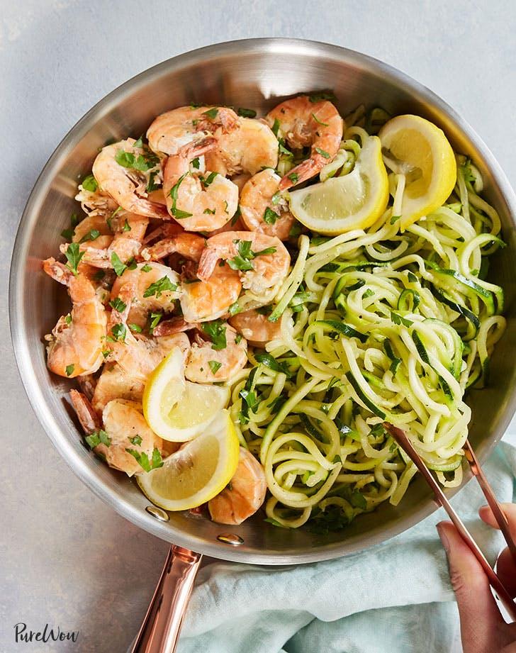 20 Minute Shrimp Scampi Zoodle