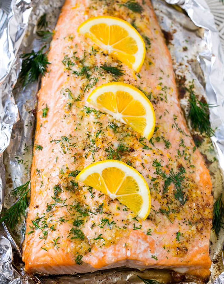 salmon in foil lemon dill recipe