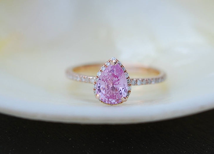 pink sapphire engagement ring 2