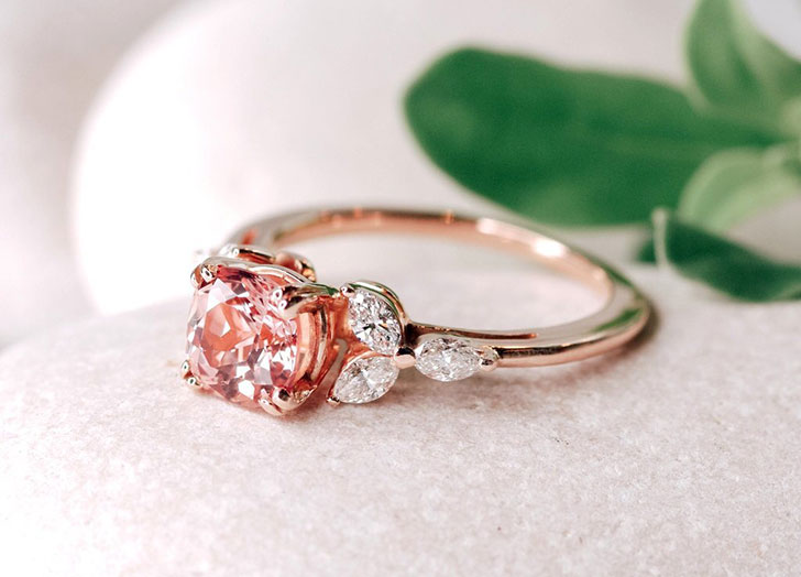 pink sapphire engagement ring 4