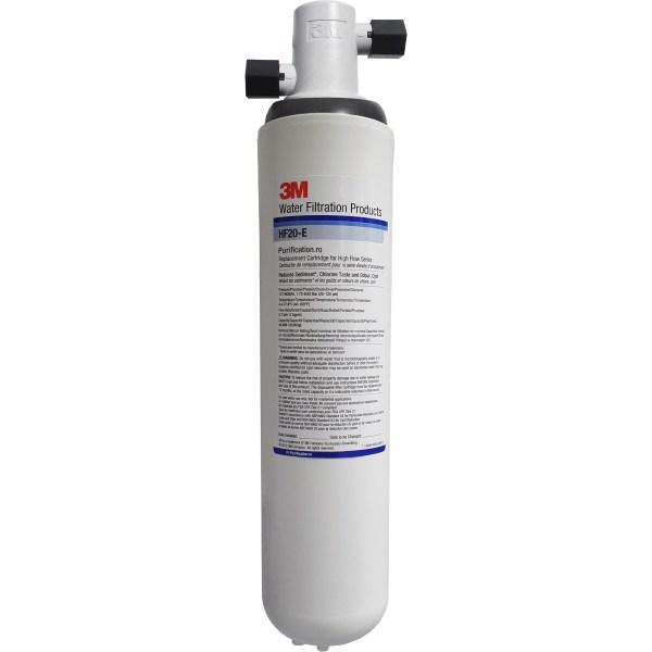 Sistem filtru apa potabila 3M Aqua-Pure HF20 cu capacitate mare, purificator cu carbune activ pentru clor, sedimente montat in bucatarie la chiuveta, la bateria actuala HF 20