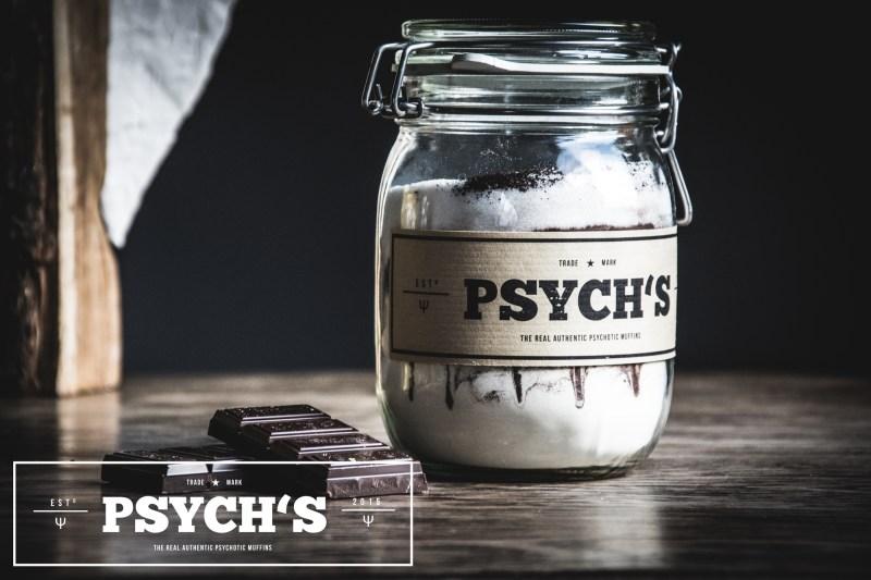 Psych's - Muffinbackmischung und Etikettendesign