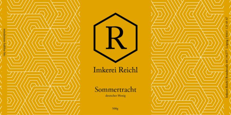 Honigglasetikett Imkerei Reichl