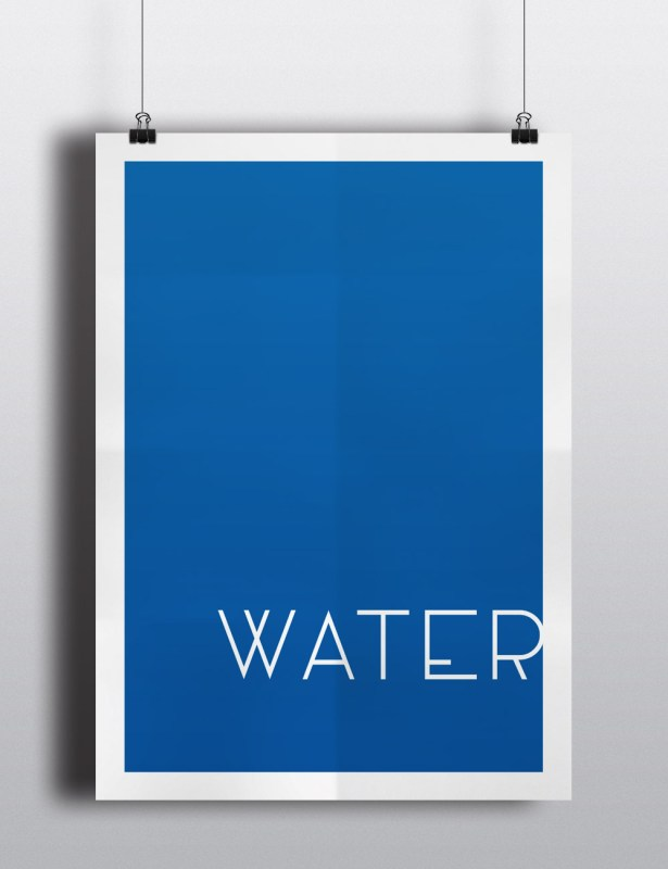 Poster - Die vier Elemente - Wasser
