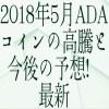 【仮想通貨】2018年5月ADAコインの高騰と今後の予想!最新