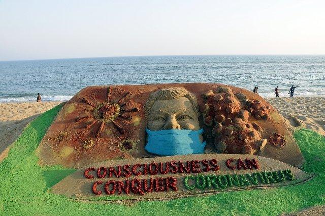 Sand Art Awareness - Corona Virus