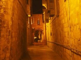 In der Altstadt von Jerusalem bei Nacht