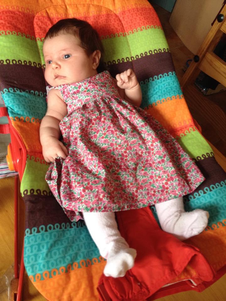 Tilda in her dress