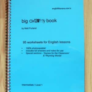 FREE Big Activity Book for ESOL Lessons