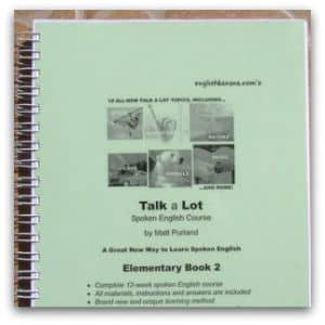 FREE Talk a Lot Elementary Book 2 for ESOL Lessons by Matt Purland