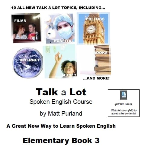 FREE Talk a Lot Elementary Book 3 by Matt Purland