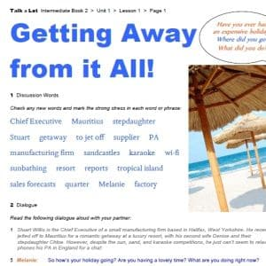 Getting Away from it All! - FREE Worksheet Pack