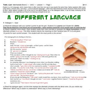 A Different Language – FREE Worksheet Pack