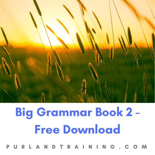 FREE Big Grammar Book 2 – by Matt Purland