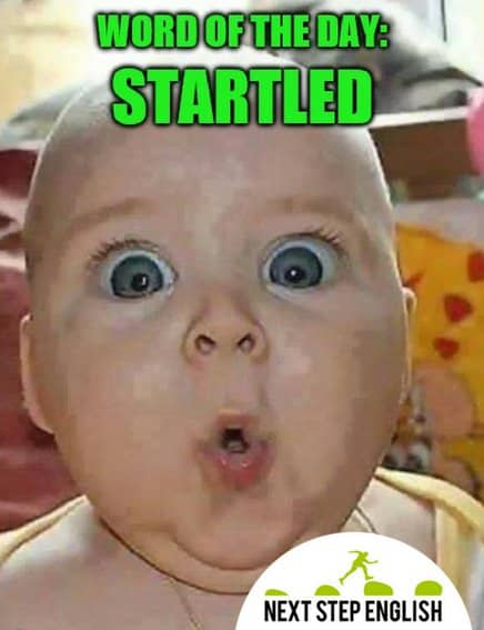 Word of the Day - Startled