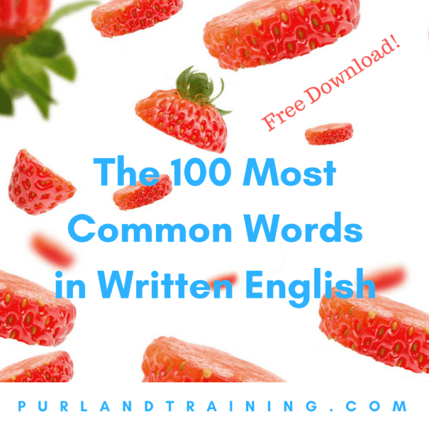 The 100 Most Common Words in Written English