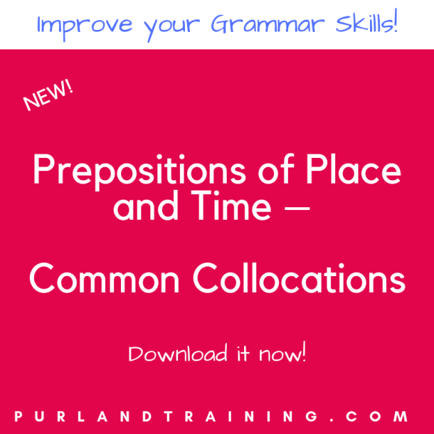 Prepositions of Place and Time – Common Collocations
