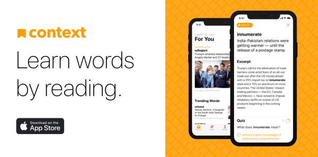 Try the New Learning App from Context: Learn Words by Reading