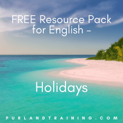 FREE Resource Pack for English - Holidays