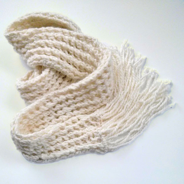 ribbed scarf - Purl Avenue