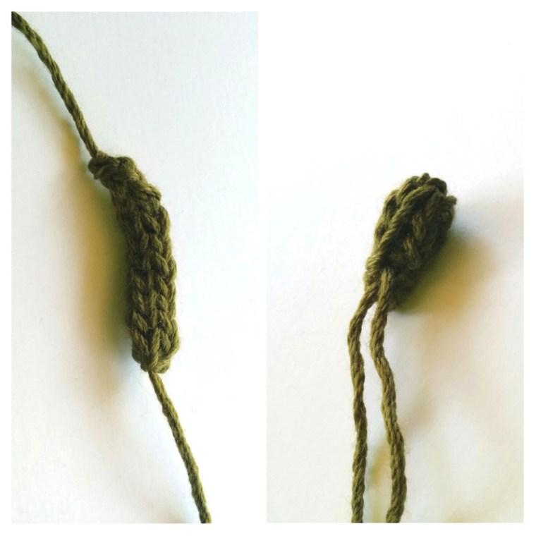 knitted flower bud