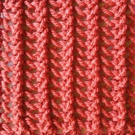 Simple Vertical Lace Stitch
