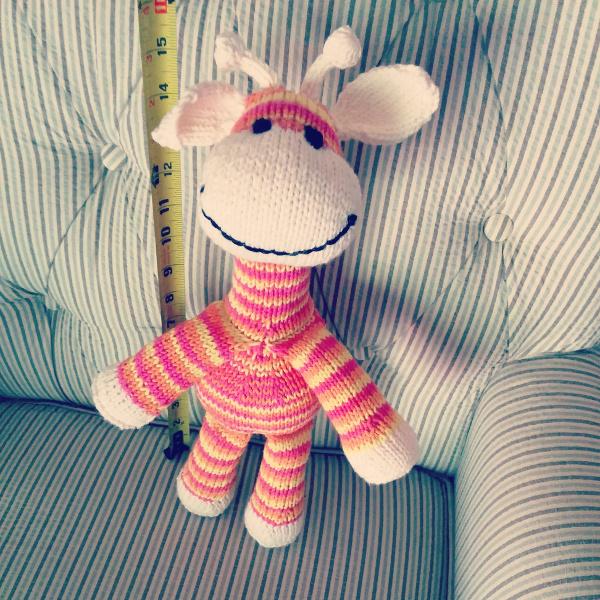 Sock Giraffe standing