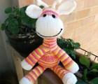 Knitted Sock Giraffe