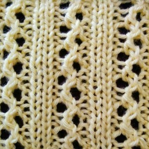 Ribs and Eyelets Stitch