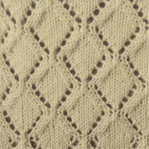 vertical diamonds knit stitch